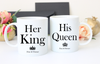 Couples Valentines Day Mug(set of 2) - His Queen and Her King - Now and Forever