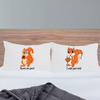 Funny couples squirrel pillowcase