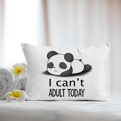 Panda Pillowcase. Panda Theme linen. I can't adult today.