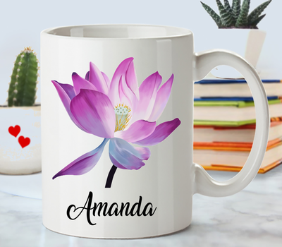Personalized Lotus Flower Gift.