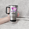 Personalized Lotus Travel Mug. Lotus Gift. Named Travel Mug.
