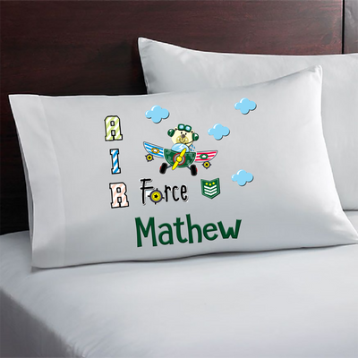 Personalized Airforce Kids Gift. Custom Airforce Pillowcase