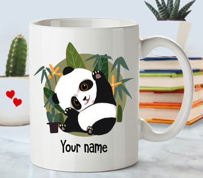 Personalized Panda Gift. Named Panda Mug.