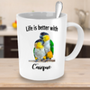 Parrot mug. Life is better with Caique. Funny Parrot Mug