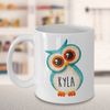 Personalised Owl Mug. Birthday party favors idea. Owl gift idea. Named owl gift.