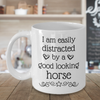 Funny Horse Lover Coffee Mug, Birthday Gift for horse rider, equestrian, show jumping, and dressage lover