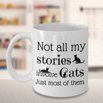 Birthday Gift For Cat Lovers Mug Stories Coffee