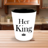 Her King and His Queen shot glass set