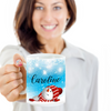 Personalised Snowman Snowflake Christmas Coffee Mug