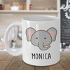 Personalised baby elephant mug.