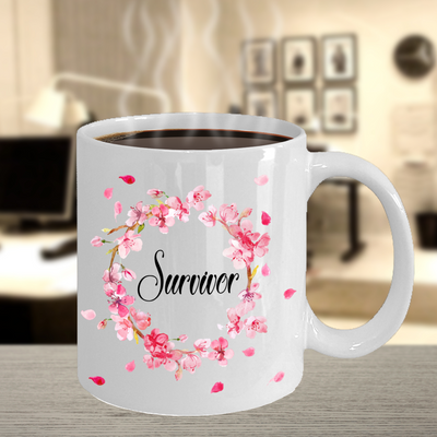 Cancer Survivor Mug, Gift for Breast Cancer Survivor, Proud Mum of Cancer Survivor