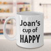 Personalized cup of happy. Personalized Birthday Gift