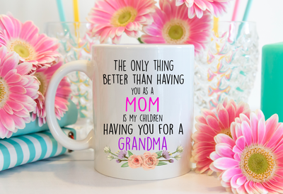 Mothers Day Gift. Gift for grandma from daughter. Grandma mug.