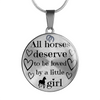 Horse Lover Birthday Gift for daughter Horse Necklace or Bangle
