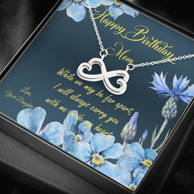 Birthday Gift for Mom from Daughter or Son. Infinity Pendant for Mother from Daughter or Son.