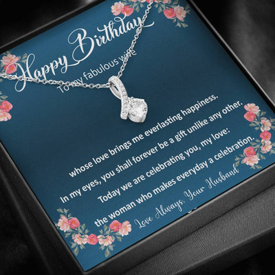 Birthday Gift for Wife. Necklace for Wife. Wife Love Message.