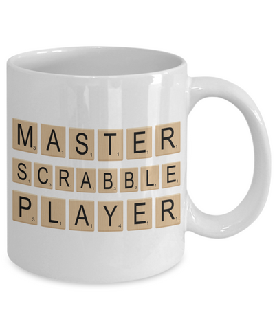 Master Scrabble Player Tile - Scrabble Coffee Cup