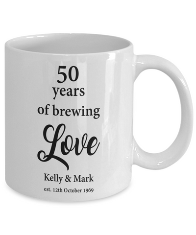 50th Wedding Anniversary Personalized Gift