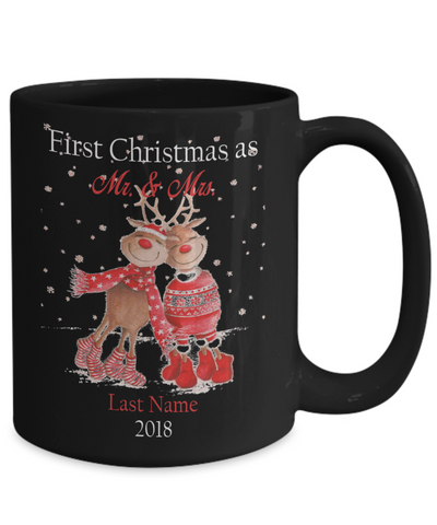 Personalised First Christmas as Mr. & Mrs 2018