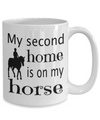 Horse Lover Coffee Mug, Birthday Gift for horse rider, equestrian, show jumping, and dressage lover