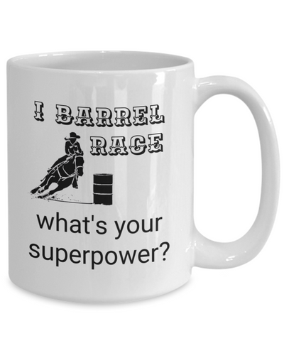 Horse Barrel Race Coffee Mug, Gift for Horse Lovers