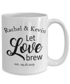 Personalized Wedding Gift. Let Love Brew.