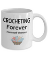 Funny Crochet Gits. Hilarious Crocheter Mug. Crocheting Coffee Cup