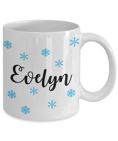 Personalised Christmas Stocking Stuffers Gift Idea, Snowflake Custom Mug