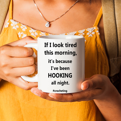 Funny Crochet Gift. #crocheting Crocheter Coffee Cup