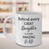 Father's Day Gift from Daughter. Dad gift from daughter. Daddy's girl mug.