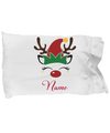Personalized Rudolph Christmas gift. Custom Christmas pillowcase.