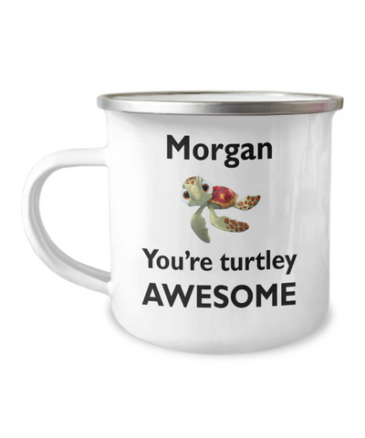 Personalized Turtle Camper Mug. Turtley Awesome Gift. Turtle Theme Gift.