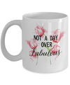 Birthday gift for Mom - Best friend Birthday Mug - Not a day over Fabulous