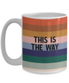 This is the way. Mando theme mug.