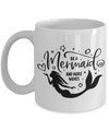 Mermaid Mug, Mermaid Life, Be a Mermaid and make Waves, 11oz or 15oz white ceramic mug