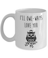 I'll Owl-ways Love You. Anniversary gift for her. Personalized birthday gift for her.