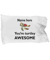 Personalized Turtle Pillowcase. Birthday Party Favors. Personalized Turtle Gifts.