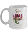 Personalized June Birthday Gift. Honeysuckle Birthday Flower Month.