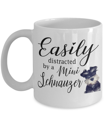 Mini Schnauzer Mug, Birthday Gift for Mum and Dad, Schnauzer Lover Mug, 11oz or 15oz white ceramic mug