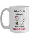 Snoopy Mug. Stand out Snoopy.