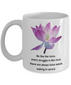 Inspirational Lotus Quote. Birthday gift.