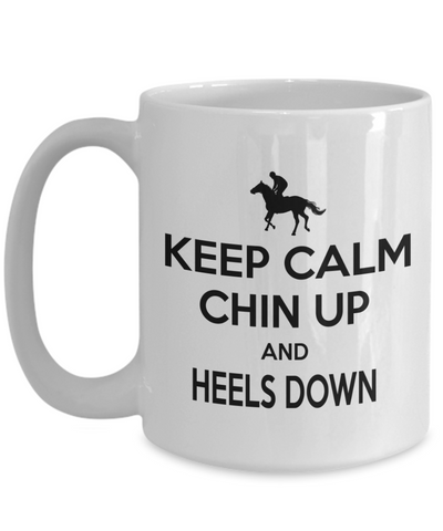 Horse Mug, Horse Riding Funny Horse Lover White Ceramic Mug, Birthday Gift for horse rider, equestrian, show jumping, and dressage lover.