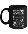 Snoopy Mug. Snoopy inspirational quote - Walk to your own beat coffee cup