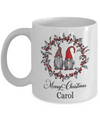 Personalized Merry Christmas Gift. Custom named Christmas mug.