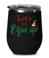 Christmas Elfed Up Stemless Wine Tumbler. Wine Lover Gift. Elf Christmas Gift.