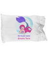 Personalized mermaid gift. Custom mermaid pillowcase gift.