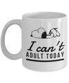 Snoopy Coffee Mug – I Can't Adult Today - Best Novelty Gift for Snoopy Fans