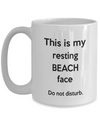 Funny Beach Captions. Office gift for co-worker. Funny beach caption pun.