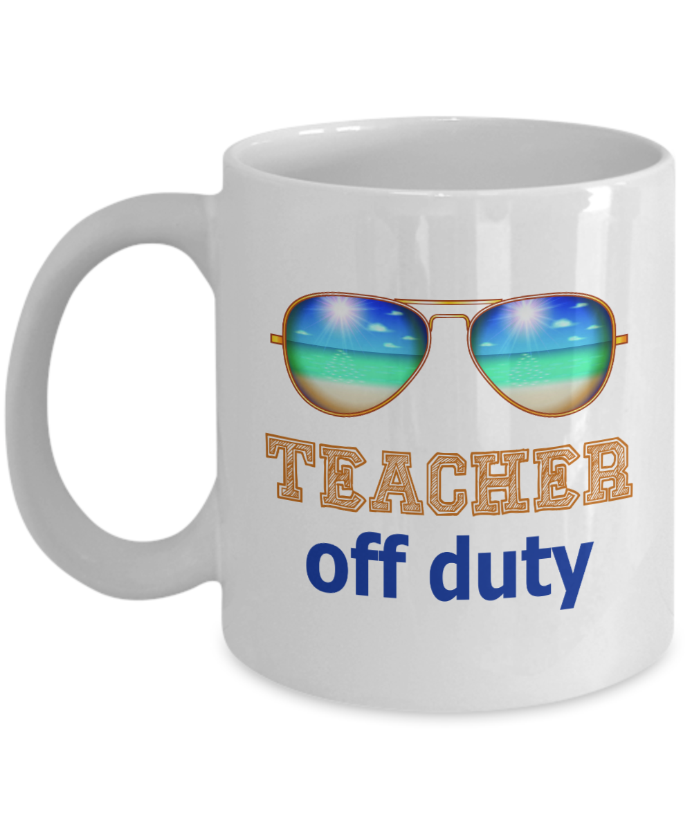 4c3a955ed04 Teacher off duty mug. Teacher Appreciation Gift. Teacher Mug. Thank you  Teacher.