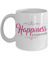Crafting Gift. Happiness is homemade. Crafting mug.